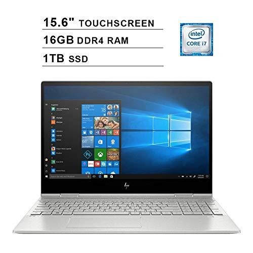 2019 HP Envy x360 15.6 pulgadas FHD pantalla táctil Laptop (Intel Quad Core i7-8565U hasta 4.6 GHz, 16 GB RAM, 1 TB SSD, Intel UHD Graphics 620, Bluetooth, WiFi, HDMI, Windows 10)
