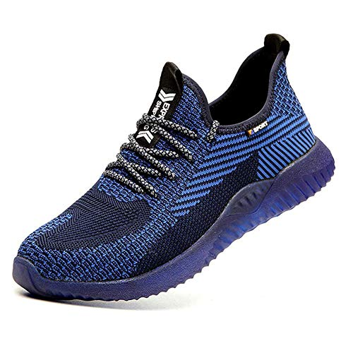 Zapatillas de Seguridad Hombre Punta de Acero Calzado de Trabajo para Comodas Zapatos de Industria y Construcción Ligeros 35-48 EU