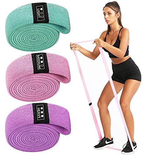 3 Pezzi di Elastici Fitness, Set di Fasce A Lunga Resistenza, Fasce per Squat per Abbellire I Glutei, per Allenamento A Casa, Yoga, Pilates