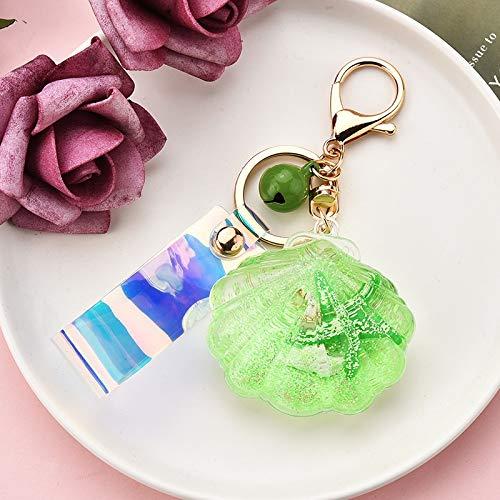 Fashion Keychain Starfish Shell Keychain Bag Accessories Car Key Chains For Women Girl,1pcs (Color : G)