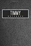 Timmy Notebook: Personalised gift notebook for Timmy: Beautiful black leather effect notebook notepad: Handy 6x9in size.