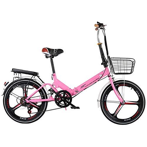 LXLTLB 20in Klapprad Variable, Geschwindigkeit Unisex Student Tragbar Scheibenbremse Folding Bike Stoßdämpfung Faltrad,C