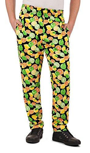 Mens Citrus Print Chef Pant(X-Large)