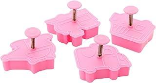 joyliveCY Juego de 6 moldes de pasta para decoración de galletas Compatible Conma redonda fondant