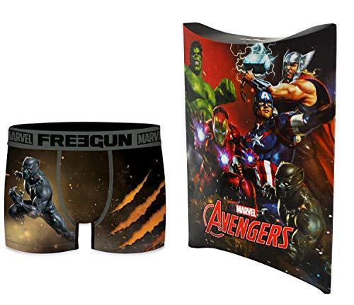 Marvel-Avengers Boxershorts mit Geschenkbeutel, offizielle Kollektion Freegun – Herren Gr. XXL, mehrfarbig