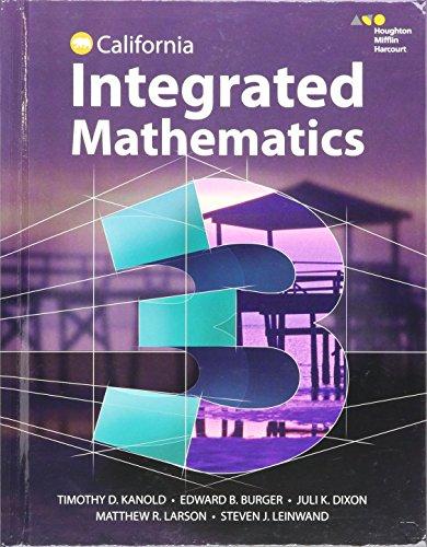 HMH Integrated Math 3: Student Edition 2015