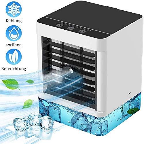 Bcamelys Klimaanlage, Tragbare Mobile Klimaanlage Luftkühler Ventilator Leise Tischventilator Tragbare Nebelventilator Kleine Luftkühler Luftbefeuchter, Personal Mini Air Cooler