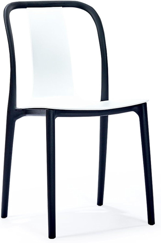 Modern Simple Casual Dining Chair Household Chair European Style Creative Restaurant Chair (color   White)