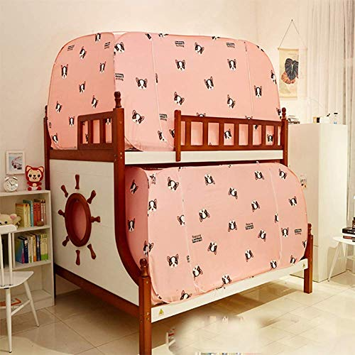 DHTOMC Mosquitera para cama de matrimonio, color rosa, con diseño de princesa, para estudiantes, mosquitero (tamaño: 80 x 190 x 100 cm)