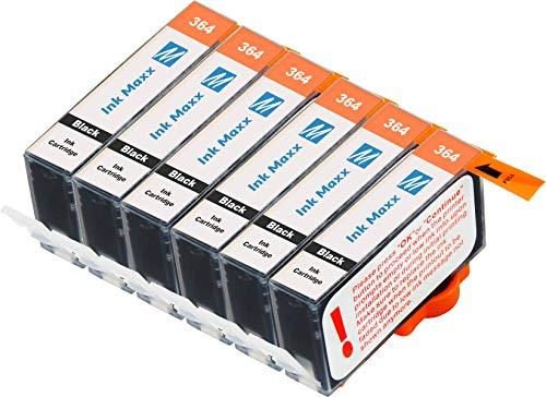 Ink Maxx – Cartucho de tinta refabricado para usar en lugar de HP 364XL ( pack de 6)