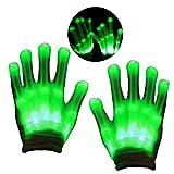 KITY Spielzeug Junge Mädchen 4-12 Jahre,Spaß LED Handschuhe Spielzeug Junge 3-12 Jahre für Party Handschuhe Beleuchtung Handschuhe Jungenspielzeugab 4-10 Jahre Cosplay Party(Grün)