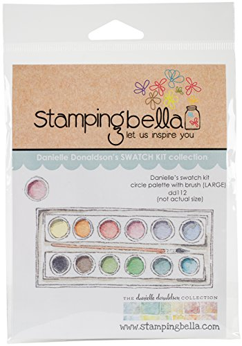 Stamping Bella Circle Palette with Large Brush Cling Stamps