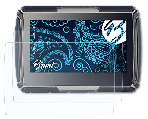 Bruni Schutzfolie kompatibel mit NavGear TourMate N4 Folie, glasklare Displayschutzfolie (2X)