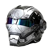 Masei Bike scooter moto War grigio Classic Iron Man casco moto casco mezzo casco Open Face casco Casque motocross