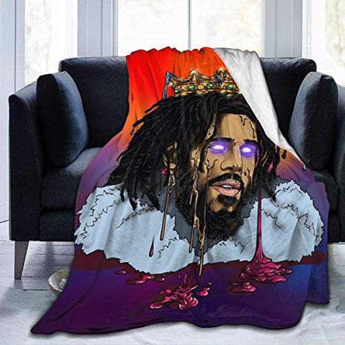 J Cole Blanket Cute Ultra-Soft Micro Cozy Plush Sofa Throw Blanket Manta de Cama Ligera 60X50 Pulgadas