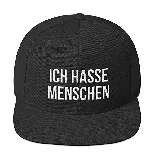 PlimPlom Ich Hasse Menschen Snapback Kappe Baseball Cap Cooles Design Gestickt Für Damen und Herren