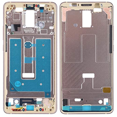 Compatibele Vervangings Front Behuizing LCD-frame van het bord Plaat for Huawei Mate 10 Pro Accessory (Color : Gold)