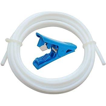 Zerone Tube en t/éflon 2PCS PTFE /& 4 PCS PC4-M10 Raccord pneumatique pneumatique Droit Push to Connect /& 4PCS Raccord Rapide PC4-M6 /& pour imprimantes 3D ABS PLA 1,75 mm