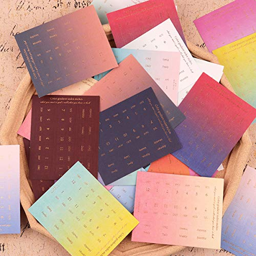 Index Tab Set, NogaMoga Page Marker Tabs, Monthly Weekly Calendar Sticker Flags, Colorful Decorative Adhesive Label Notes for Appointment Book Events Diary Scrapbook Planner, 4 Set, 720PCS