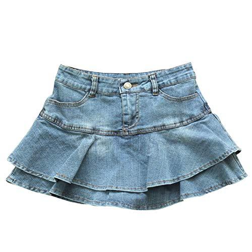 NIKEC Sommer Low Waist Denim Rock Damen Sexy Falten Mini Jeans Rock