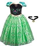 アナと エルサ 風 プリンセス 子供用 ドレス コスチューム 仮装 衣装 女児用 プレゼント (100cm)
