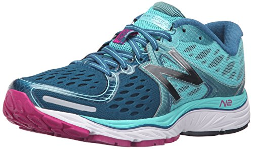 New Balance Women's 1260v6 Running Shoe, Green/Pink, 6 B US