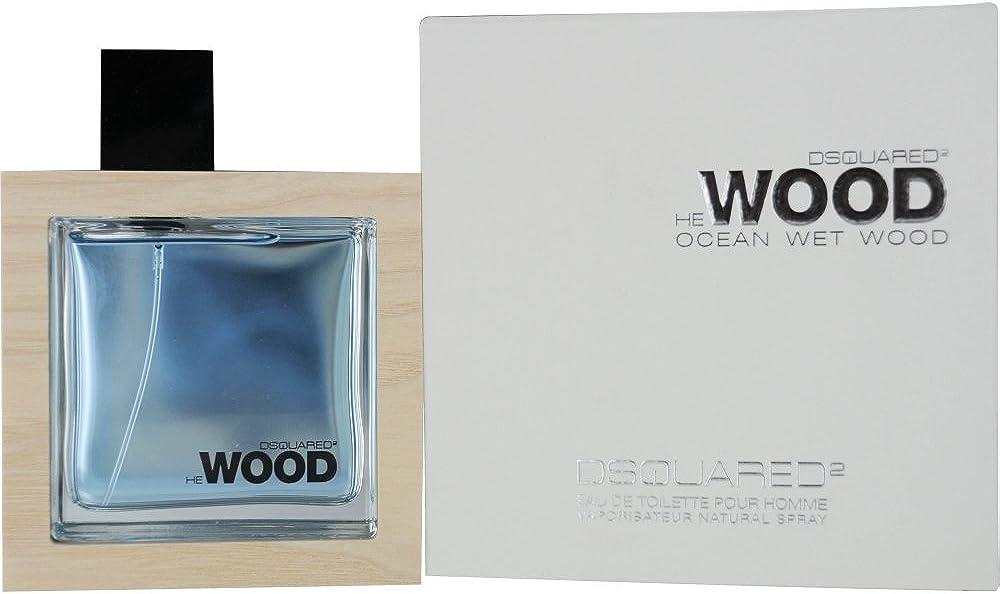 Dsquared2 ocean wet wood, eau de toilette per uomo, 50 ml 8011530904654