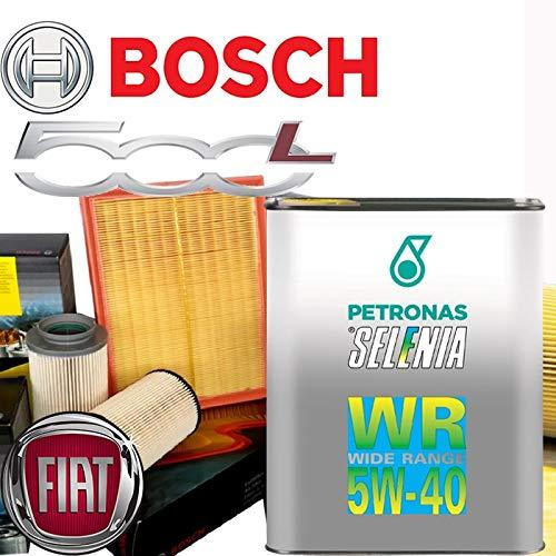 Kit de revisión de aceite de motor Selenia WR Wide Range Graduación 5W-40 + filtros Bosch - F I A T 500 L 1.4/12
