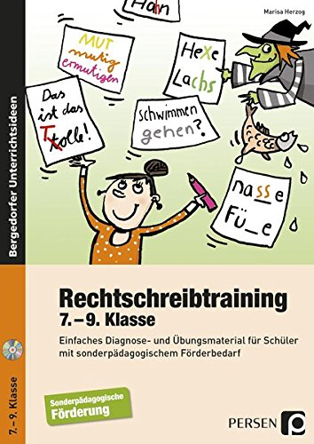Rechtschreibtraining - 7.-9. Klasse: Einfaches Diagnose- und Übungsmaterial für Schüler mit sonderpädagogischem Förderbedarf