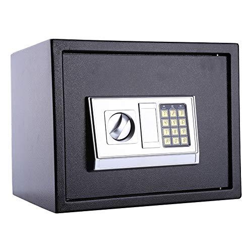 Wakects Caja de dinero electrónica ATM con bisagras a prueba de manipulaciones para llaves de efectivo