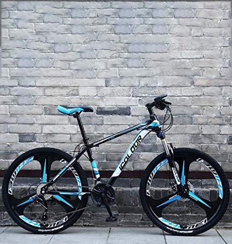 AISHFP 26 Pulgadas Plegable Bicicleta de montaña, Doble Freno de Disco Trek Bicicletas, Marco de aleación de Aluminio/Ruedas, Playa de Motos de Nieve de Bicicletas