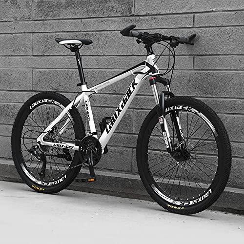 Bicicleta Yoshiyami, Bicicleta De Bicicleta, Regalo De Adolescentes, Racing-[Top Match] Portavoces - Blanco Negro_24 Velocidades (por Defecto De 26 Pulgadas),Adultos Unisex