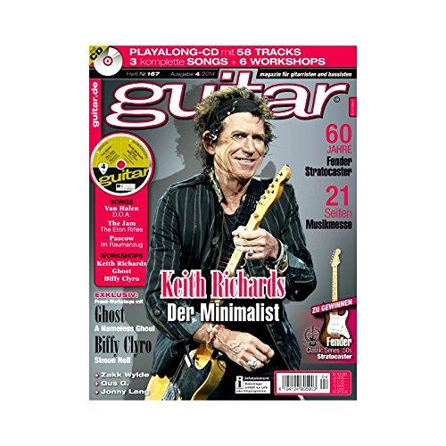 Guitar Ausgabe 04 2014 - Keith Richards - mit CD - Interviews - Workshops - Playalong Songs - Test und Technik