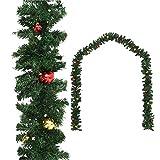 AYNEFY Decoración navideña, corona de puerta, corona de pared, guirnalda de Navidad, adornada con bolas, decoración navideña, proporciona decoración para el hogar, 20 m