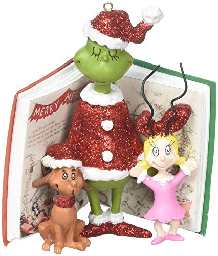 "Department 56 Grinch, Cindy and Max Book Hanging Ornament, 4"","