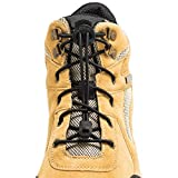 LOCK LACES for Boots (1 Pair) Premium Heavy Duty Elastic No Tie Boot Laces for Boots and Shoes (Black)