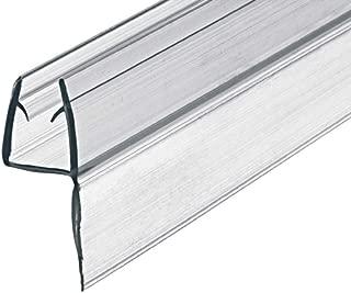Gedotec Sello de Puerta Cristal Junta Ducha Labial para Mamparas | PVC Transparente | 100 cm | Sellado Grueso 8-10mm | 1 Pieza - 1000mm Labio Duschtüren