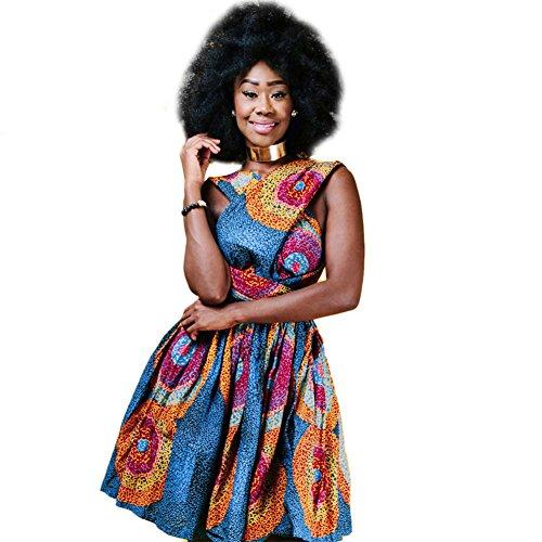 OBEEII Abito Donna Boemo Africano Dashiki Costume Tradizionale Etnico Elegante Multi Way Bandage...