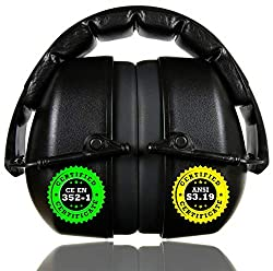 ClearArmor 141001 Shooters Hearing Protection Safety Ear Muffs Folding-Padded Head Band Ear Cups