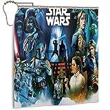 Star War Duschvorhang aus hochwertigem Polyestergewebe, wasserdicht, für Hotel, Badezimmer, Duschen & Badewannen, 167,6 x 182,9 cm