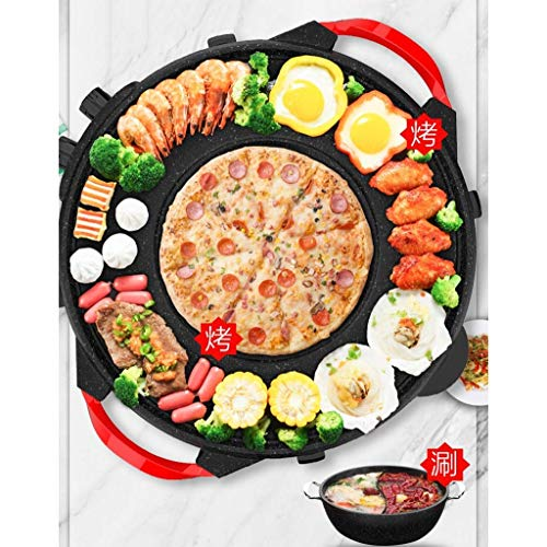 Kyman Hot Pot Barbecue Integrierte Pot, Indoor Multi-Funktions-Smoke-Free Barbecue...