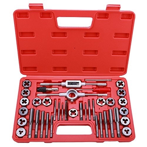Best Choice 40-Piece Tap and Die Set - SAE Inch Sizes | Essential Threading Tool with Storage Case