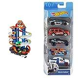 Hot Wheels Ultimate Garage, Garaje y Pista para Coches de Juguete + Pack de 5 vehículos, Coches de...