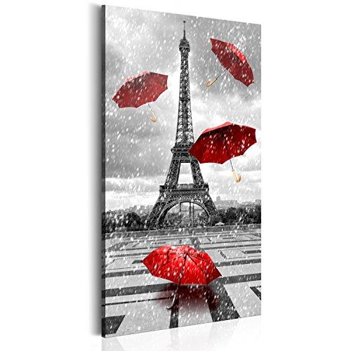 murando Quadro 60x120 cm 1 pezzo Stampa su tela in TNT XXL Immagini moderni Murale Fotografia Grafica Decorazione da parete Parigi Francia Torre Eiffel Ombrello Paris d-B-0076-b-b