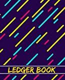 LEDGER BOOK: lined cover ledger book, accounting log book