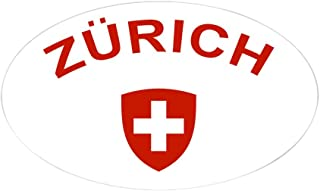CafePress Zurich Sticker (Oval) Oval Bumper Sticker, Euro Oval Car Decal