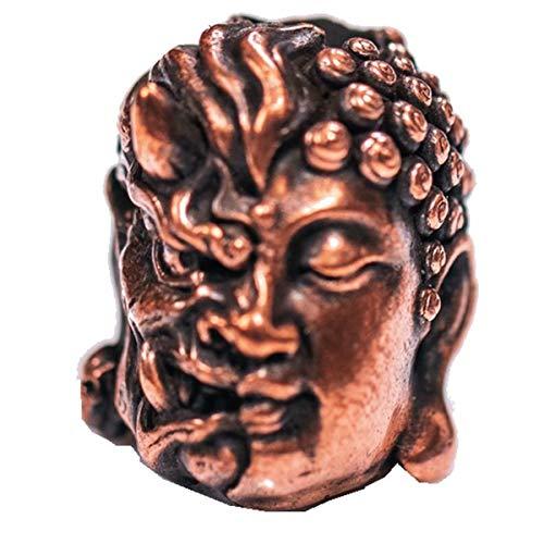Sum-elyn Evil and Buddha EDC Solid Brass Car Keychain Key Ring Wallet Chain Cloth Chain Pocket Clip