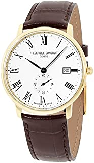 Frederique Constant Men's Limline Yello Gold Leather Band Watch FC245WR5S5