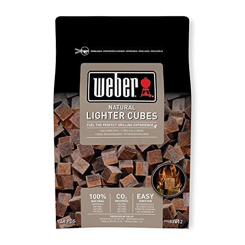 Weber 17612 Anzündwürfel braun, ohne Zusatzstoffe, 48 Stück