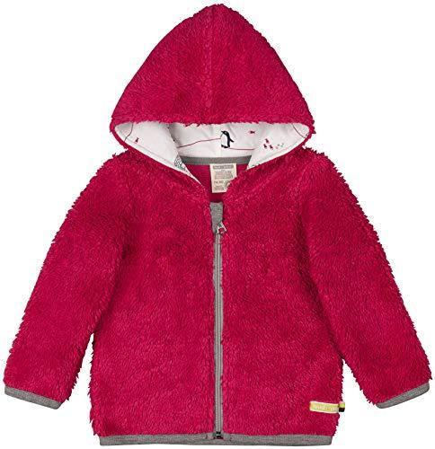 loud + proud Baby-Unisex Plüsch Aus Bio Baumwolle, GOTS Zertifiziert Jacke, Rosa (Berry Ber), 92 (Herstellergröße: 86/92)
